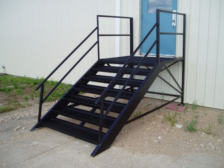 Custom Stairway with Landing.